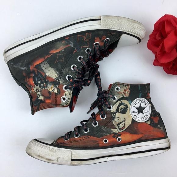 8aa7cbc96498 Converse Shoes - CONVERSE Harley Quinn Hi Tops WMN Size 9 Men 7